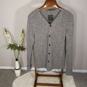 All Saints Gray Textured Cardigan Sz M